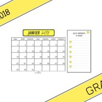 THE Calendrier Imprimable gratuitement 2017-2018